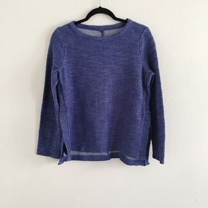 Lou & Grey Blue Texture Sweater